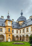 Schloss Seehof,德国 免版税库存照片