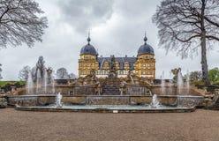 Schloss Seehof, Duitsland stock foto's
