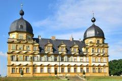 Schloss Seehof (Kasteel Seehof) dichtbij Bamberg, Duitsland royalty-vrije stock afbeeldingen