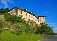 Schloss Settimo Vittone Stockfoto
