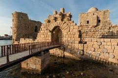 Schloss in Sidon Lizenzfreies Stockfoto