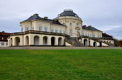 Schloss solitude main prospect, stuttgart. View of the main prospect of the famous castle located in a park in surroundings of the city Royalty Free Stock Images