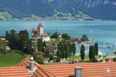 Schloss Spiez, Bernese Oberland. Royalty Free Stock Image