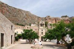 Schloss-Stadt von Monemvasia Stockfotos