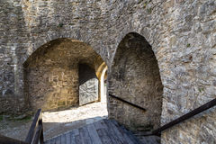 Schloss in Stara Lubovna nach innen slowakei Lizenzfreies Stockfoto
