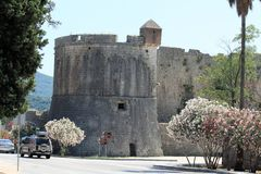 Schloss in Ston, Kroatien Stockfoto