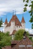 Schloss Thun i Thun, Oberland, Schweiz arkivfoto