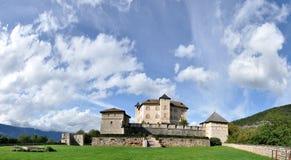 Schloss Thun-Panorama Lizenzfreies Stockbild