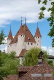 Schloss Thun in Thun, Oberland, Switzerland stock photo