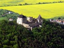 Schloss Tocnik Luftfoto Stockfotos