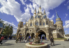 Schloss Tokyo-Disneyland Lizenzfreie Stockbilder