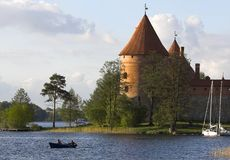 Schloss in Trakai Stockfoto