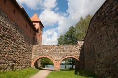 Schloss Trakai stockfotografie