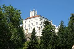 Schloss Trakoscan in Kroatien lizenzfreie stockfotografie