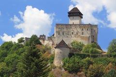 Schloss in Trencin Stockbilder