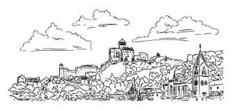 Schloss Trencin Stockbild
