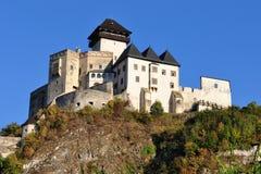Schloss Trencin in Slowakei Stockfotografie