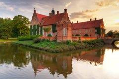 Schloss Trolle-Ljungby am Sonnenuntergang Lizenzfreie Stockfotos
