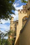 Schloss-Turm Hohen Schwangau Stockbild