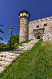 Schloss-Turm mit Treppe Lizenzfreies Stockbild