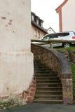 Schloss-Turm mit Treppe Stockfotos