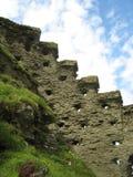 Schloss u. Einfassungen Tintagel stockbild