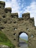 Schloss u. Einfassungen Tintagel stockfoto