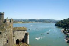 Schloss und das Meer Stockbilder