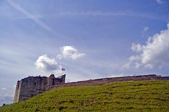 Schloss und die Landschaft Lizenzfreies Stockfoto