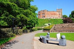 Schloss und Gärten, Tamworth Stockbild