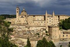 Schloss Urbino Italien Lizenzfreies Stockbild