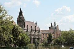 Schloss Vajdahunyad Budapest, Ungarn Lizenzfreie Stockbilder