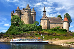 Schloss in Val, Frankreich Lizenzfreies Stockbild