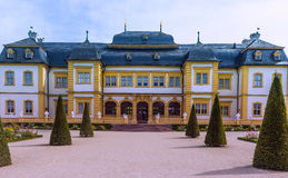 Schloss Veitshöchheim, historic palace with Rococo Garden in Bavaria, Germany Stock Photos