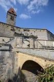 Schloss veste Kammgarn-stoff Stockfoto
