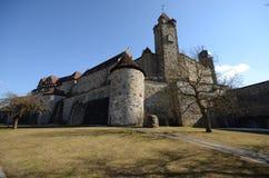 Schloss veste Kammgarn-stoff Stockbilder