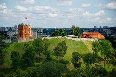 Schloss in Vilnius Stockfotos