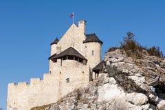 Schloss vom 14. Jahrhundert in Bobolice Polen Stockfoto