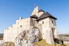 Schloss vom 14. Jahrhundert in Bobolice Polen Stockfotos