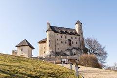 Schloss vom 14. Jahrhundert in Bobolice Polen Stockfotografie