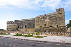 Schloss von Acaya. Vernole. Puglia. Italien. Lizenzfreies Stockbild