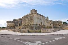Schloss von Acaya. Vernole. Puglia. Italien. Lizenzfreies Stockfoto