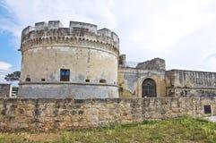 Schloss von Acaya. Vernole. Puglia. Italien. Lizenzfreie Stockfotos