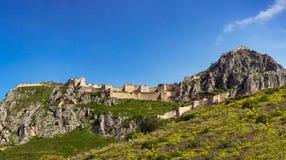 Schloss von Acrocorint Lizenzfreies Stockbild