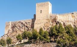 Schloss von Almansa stockfotografie
