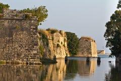 Schloss von Ayia Mavra in Lefkada, Griechenland Lizenzfreies Stockfoto