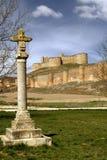 Schloss von Berlanga del Duero in Soria Stockfotografie