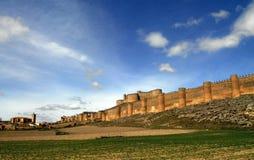 Schloss von Berlanga del Duero in Soria Stockbilder