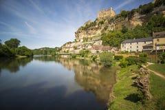 Schloss von Beynac stockfotografie