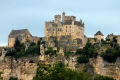Schloss von Beynac, Frankreich Lizenzfreies Stockbild